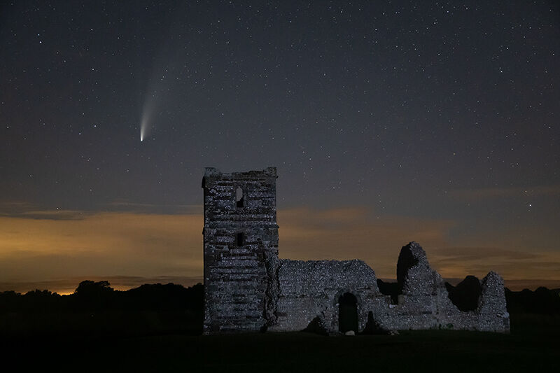 Comet NEOWISE over Knowlton Church