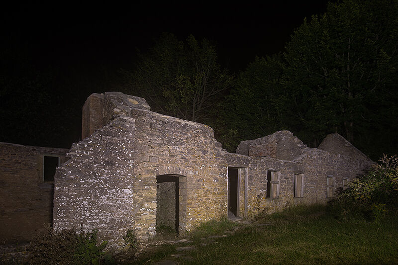Tyneham at night
