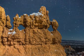 Hoodoo and night sky
