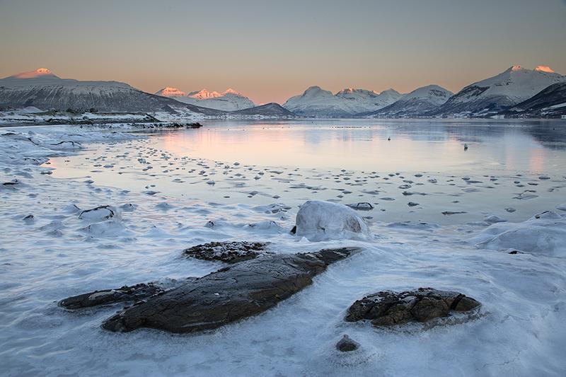 First light, Balsfjord