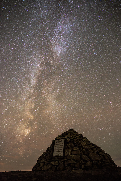 Milky Way over Dunkery Beacon