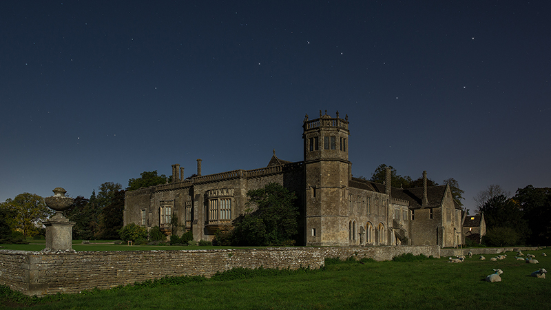 Lacock Abbey at night