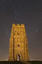 Taurus, Auriga and Perseus over Glastonbury Tor