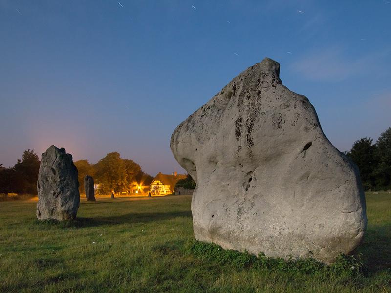 Avebury by moonlight