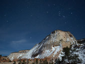 Zion plateau and night sky