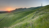 Midsummer sunrise, Cherhill down