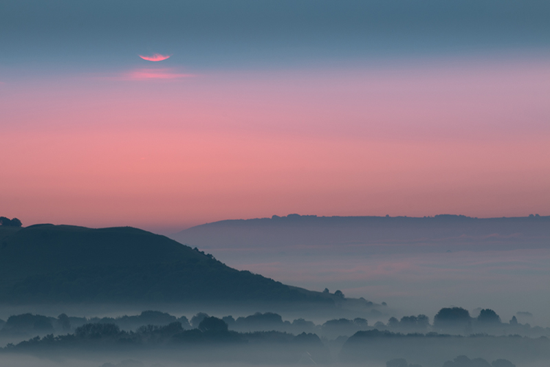 Misty dawn, Vale of Pewsey