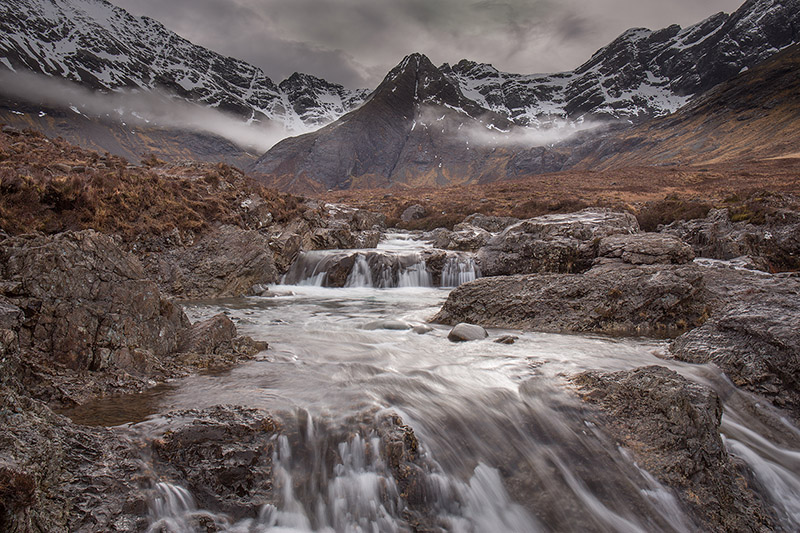 Black Cuillin from Fairy Pools