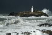 Godrevy Island in storm