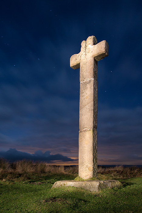 Ralph Cross at night
