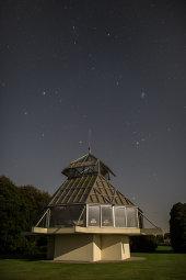 Oare House pavillion at night