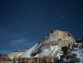 Zion plateau and night sky