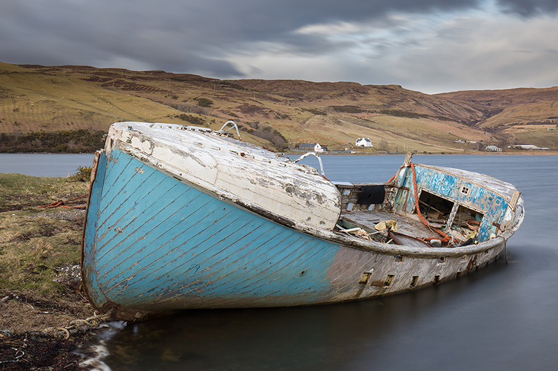 Abandoned fishing boat, Carbost