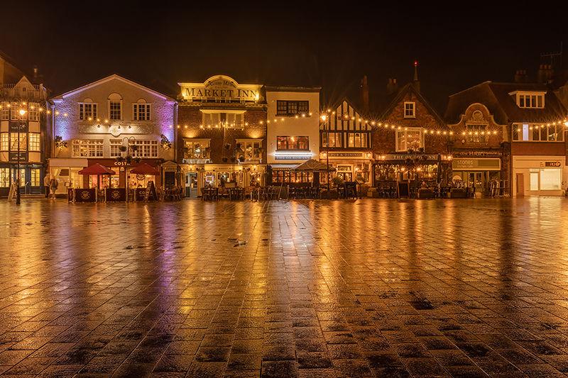 Salisbury Market Place at night