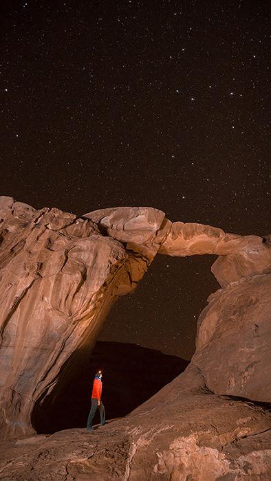 Star Gazing, Um Frouth Rock Arch, Wadi Rum
