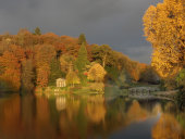 Last light at Stourhead