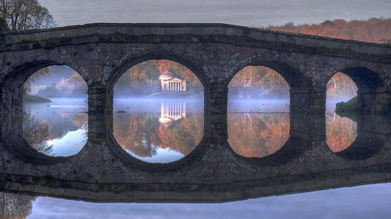 Pantheon viewed through Turf Bridge