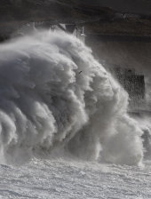 Porthleven in storm