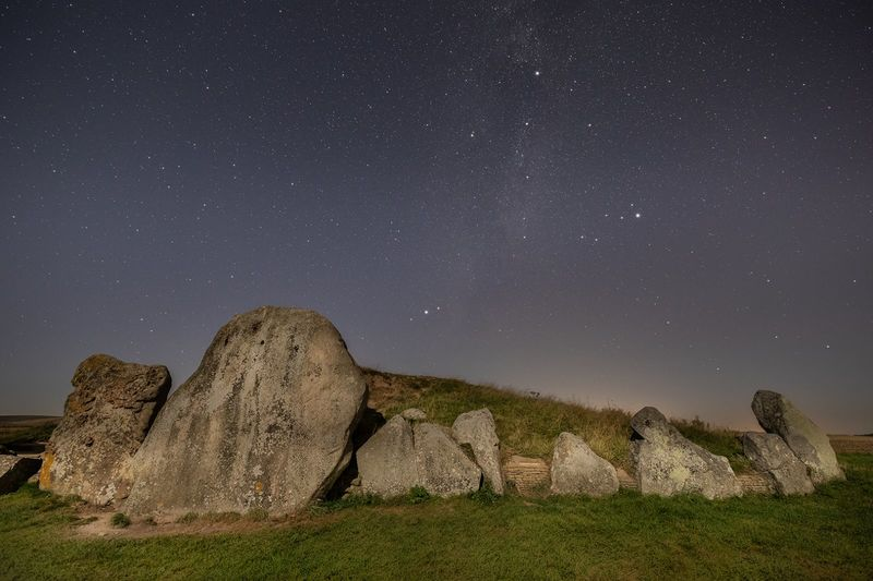 Summer Triangle over West Kennet Long Barrow