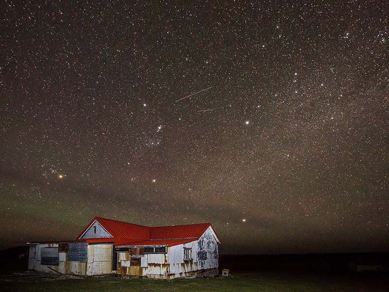 Milky Way and aurora australis