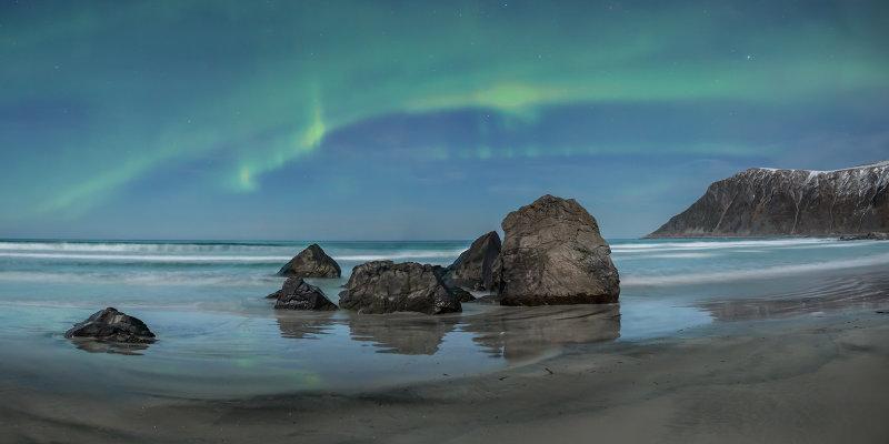 Aurora borealis, Lofoten Islands