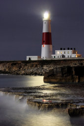 Portland lighthouse by moonlight