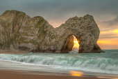 Midwinter sunrise, Durdle Door