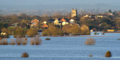 Flooded Somerset Levels