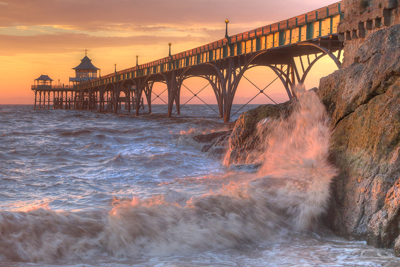 Breaking Wave at Clevedon Pier