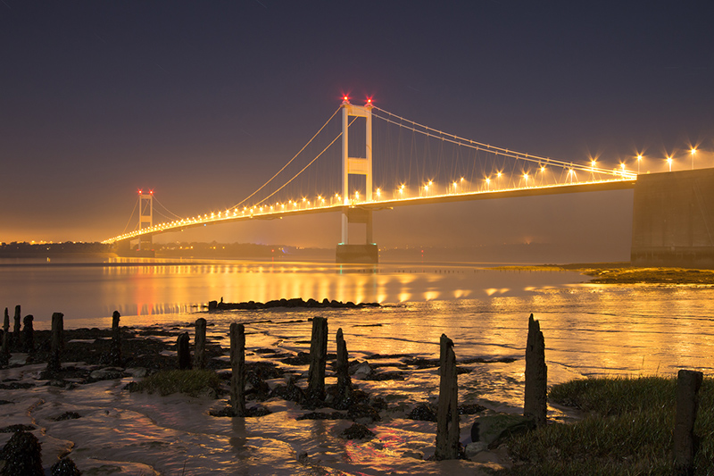 Severn Bridge by moonlight