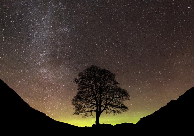 Aurora borealis, Sycamore Gap