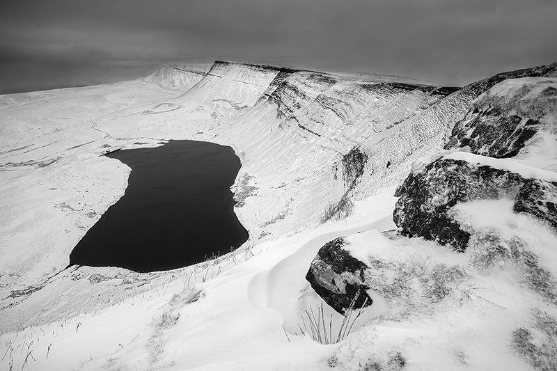 Black Mountain in snow