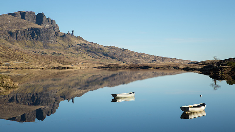 Old Man of Storr reflected