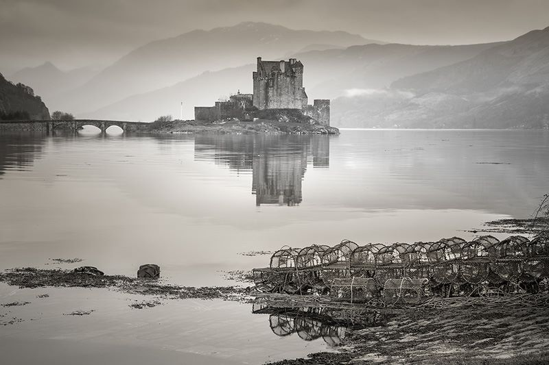 Eilean Donan Castle at high tide