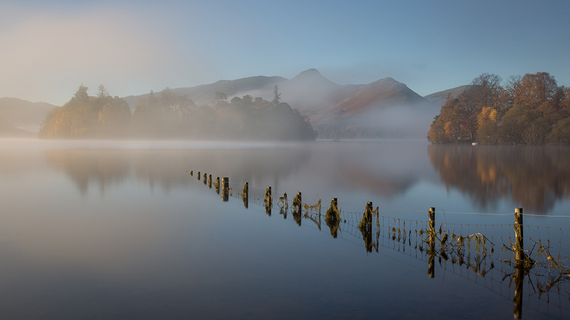 Misty morning, Derwentwater