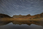 Star Trails over Langdale Pikes