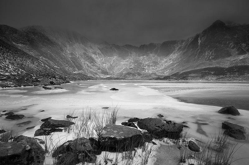Cwm Idwal frozen
