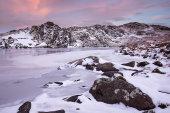 Llyn Cwmffynnon frozen
