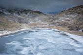 Llyn Teyra frozen