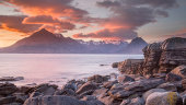 Red Sky over Black Cuillin