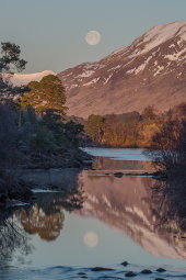 Moonset, Glen Affric