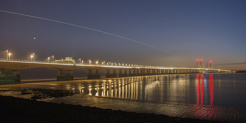International Space Station over Severn Bridge