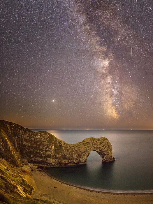 Milky Way, Mars and Meteor