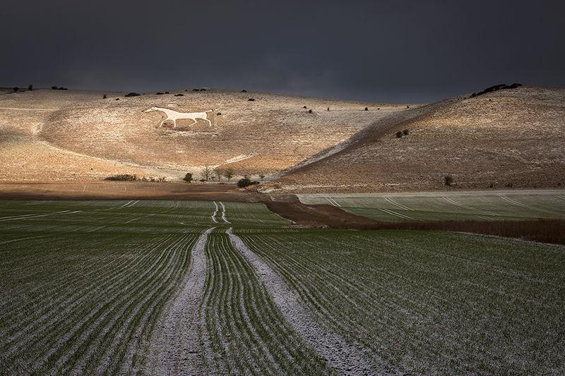 Alton Barnes White Horse in Winter
