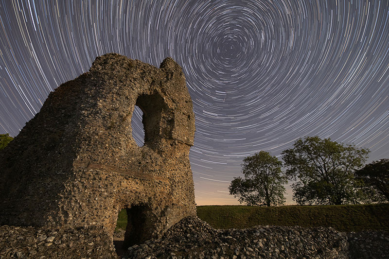Star Trails, Ludgershall Castle, Wiltshire