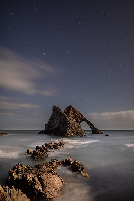 Bow Fiddle Rock by moonlight