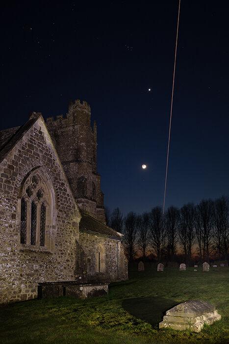 Moon, Venus and International Space Station