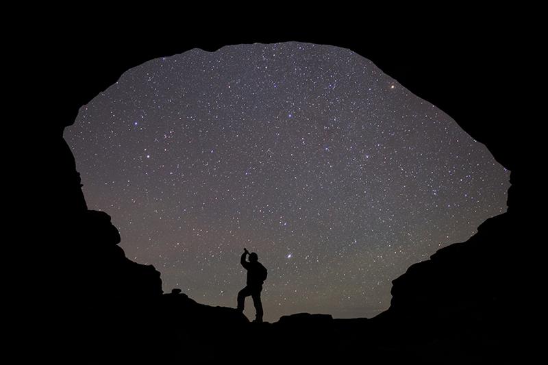 Night sky through North Window