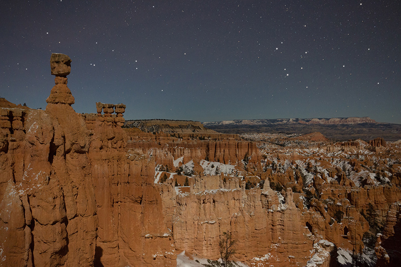 Bryce Canyon by moonlight