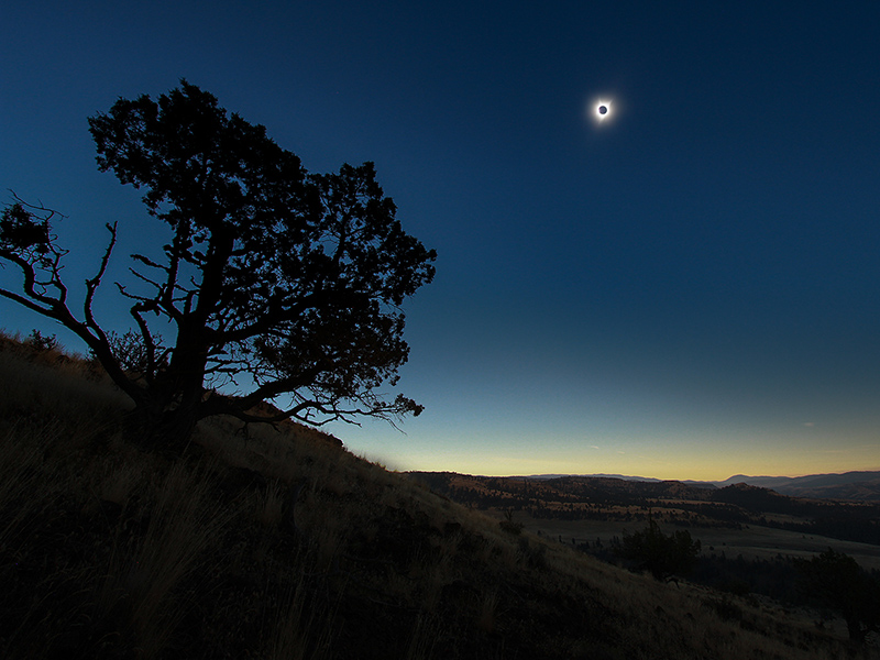 Total solar eclipse, Oregon